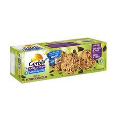 GERBLE Biscuits cookies pépites de chocolat sachets fraîcheur  3x3 cookies 150g
