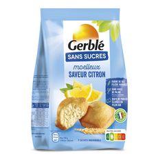 GERBLE Moelleux saveur au citron sans sucres, sachets 196g
