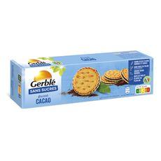 GERBLE Biscuits fourrés cacao sans sucres 185g