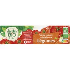 JARDIN BIO ETIC Sauce tomate cuisinée aux légumes fabriqué en France ss additif,en tube 180g