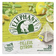 ELEPHANT Infusion tilleul citron 20 sachets 28g