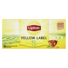 LIPTON Yellow thé noir 30 sachets 60g