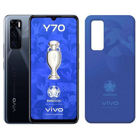 VIVO Pack Smartphone Y70  4G  128 Go  Noir + Coque UEFA