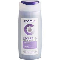 COSMIA Violet technique + shampooing aux pigments violets pour cheveux gris blancs ou blonds 250ml
