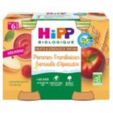 HiPP HIPP Petit pot dessert pommes framboises semoule d'épeautre bio dès 6 mois