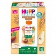 HIPP Gourde dessert pommes poires épeautre bio dès 6 mois 4x90g