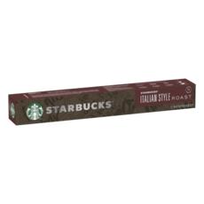 STARBUCKS Capsules de café Italian Style roast compatibles Nespresso 10 capsules 56g