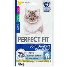 PERFECT FIT Soin Dentaire Friandises au poulet pour chat  55 g