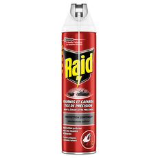 RAID Insecticide en spray avec tige de précision fourmis et cafards 400ml
