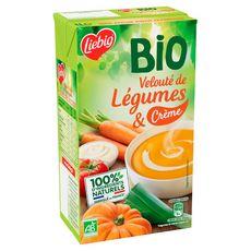 LIEBIG Velouté bio de légumes et crème 100% ingrédients naturels 4 personnes 1l