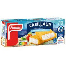 FINDUS Filet pané de cabillaud MSC 10 pièces 510g