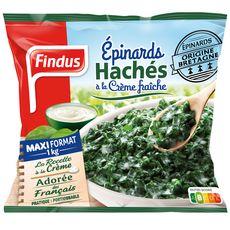 FINDUS Épinards hachés à la crème fraîche 4 portions 1kg