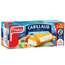 FINDUS Filet pané de cabillaud MSC 20 pièces 1,02kg