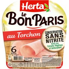 Herta HERTA Jambon au torchon sans nitrites sans couenne
