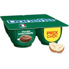DANETTE Crème dessert au chocolat saveur noisette 4x125g