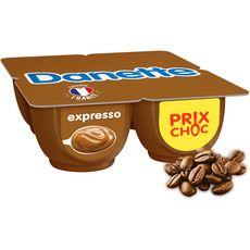 DANETTE Crème dessert au café expresso 4x125g