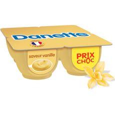 DANETTE Crème dessert saveur vanille 4x125g