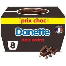 DANETTE Crème dessert chocolat noir extra 8x125g