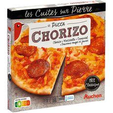AUCHAN Pizza cuite sur pierre au chorizo  2 personnes 390g