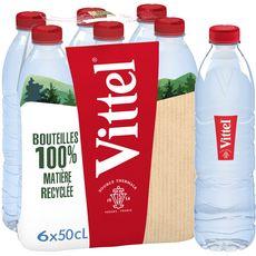 Vittel VITTEL Eau minérale naturelle plate bouteilles
