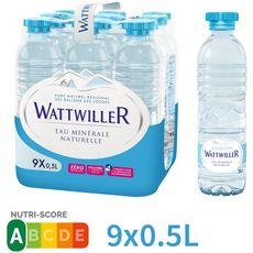 WATTWILLER Eau minérale naturelle plate bouteilles 9x50cl
