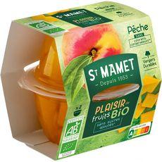 ST MAMET Plaisir de fruits pêches au sirop bio 2x113g