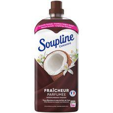 SOUPLINE Assouplissant concentré fraîcheur parfumée coco 56 lavages 1,2l