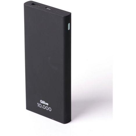 QILIVE Batterie de secours 10000 mAh - Noir