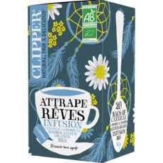 CLIPPER Infusion attrape rêves cannelle camomille rooïbos bio 20 sachets 40g