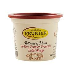 MAISON PRUNIER Vous bénéficiez avec nos rillettes du Mans d'une recette fabriquée uniquement avec du  Porc Fermier Label Rouge Français. 220g