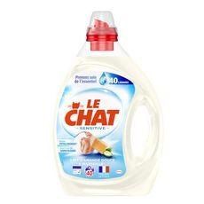 LE CHAT Lessive liquide sensitive lait d'amande douce 40 lavages 2l