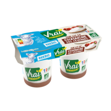 VRAI Yaourt bio sur lit de châtaigne au lait de brebis 2x125g