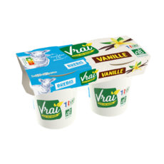 Yaourt bio à la vanille au lait de brebis 2x125g