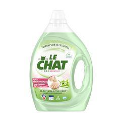 LE CHAT Lessive liquide éco sensitive aloe vera et thé vert 40 lavages 2l