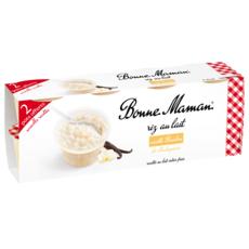 BONNE MAMAN Riz au lait à la vanille naturelle 8x100g