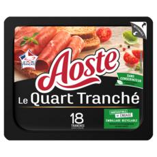 AOSTE Quart de jambon cru nature prétranché 18 tranches 220g