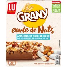 GRANY Envie de Nuts Barres de céréales amandes et noix de coco 120g