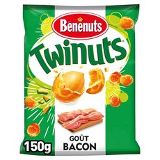 BENENUTS Twinuts cacahuètes enrobées goût bacon 150g