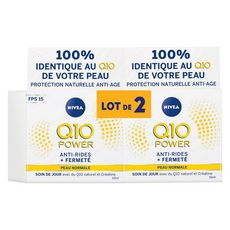 NIVEA Q10 Plus Soin de jour anti-rides FPS15 peau normale 2x50ml