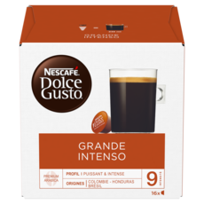 DOLCE GUSTO Capsules de café Grande Intenso compatibles Dolce Gusto 144g
