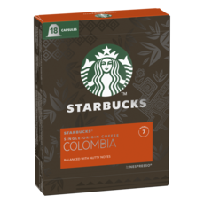 STARBUCKS Capsules de café Colombia compatibles Nespresso 18 capsules 101g