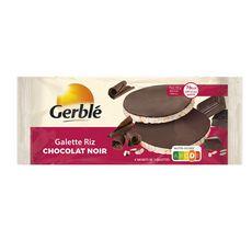 GERBLE Galettes de riz nappées de chocolat noir, sachets fraîcheur 4x2 galettes 130g