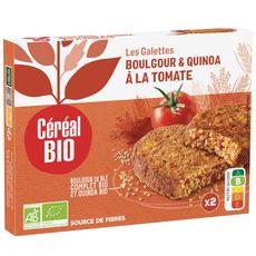 CÉRÉAL BIO Galettes quinoa et boulghour à la tomate sans viande sans conservateur 2x100g