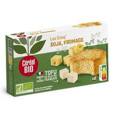 CEREAL BIO Croq' soja au fromage sans viande sans conservateur fabriqué en France 2x100g