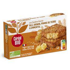 Céréal Bio CÉRÉAL BIO Tendres carrés de blé, emmental, pommes de terre, oignons