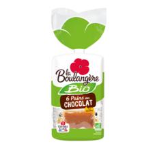 LA BOULANGERE Pains au chocolat pur beurre bio 6 pièces 270g
