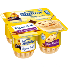 LA LAITIERE Riz au lait rhum raisins 4x115g