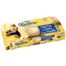 LA LAITIERE Pot de crème à la vanille 8x100g
