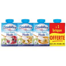 BRIDELICE Crème légère fluide UHT 12% MG 4x20cl