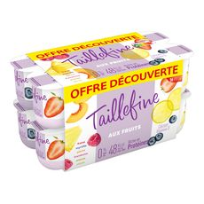 TAILLEFINE Panaché de yaourts allégés 0%MG 16x125g